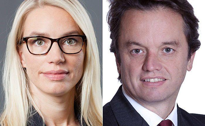 """Die beiden Meag-Geschäftsführer Anke Schaks (l.) und Philipp Waldstein: """"Unsere Kunden können sich darauf verlassen, dass wir auch weiterhin über qualitativ hochwertiges Research verfügen werden""""."""