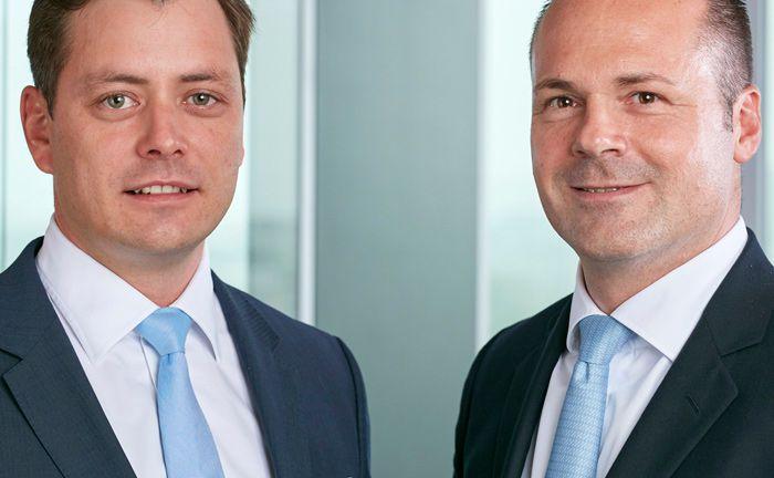 Jens Hogekamp (l.) und Olaf Drossert leiten die Geschäfte bei Becken Asset Management. Die Tochtergesellschaft der Becken Holding will ihr Angebot künftig stärker auf Dritte ausrichten.|© Becken Asset Management GmbH