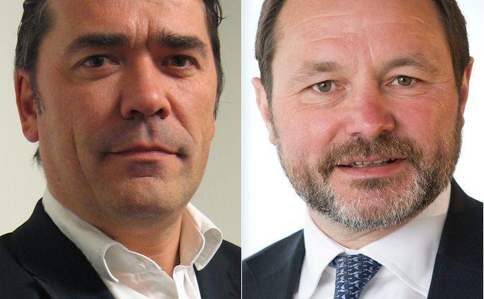 Investmentchefs bei Degroof Petercam AM: Guy Lerminiaux (r.) ist für Aktien zuständig, Peter De Coensel verantwortet die Anlageklasse Anleihen beim belgischen Asset Manager.|© Degroof Petercam Asset Management