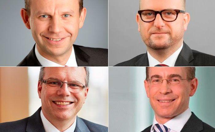 Start oben links (im Uhrzeigersinn): Silvester Plotka, Philipp Otte, Michael Toboll und Jens Zimmermann.|© Nord/LB