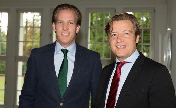 Die Salesheads-Gründer Victor Reincke (links) und Achim Denkel haben eine neue Nachrichten- und Fondsinformations-Plattform entwickelt. |© Barbara Eismann