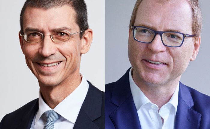 "Chefwechsel in der Allianz-Gruppe: Nachfolger von Andreas Gruber (l.) als ""Allianz Group Chief Investment Officer"" und Geschäftsführender Direktor der Allianz Investment Management SE (AIM) wird Carsten Quitter. 