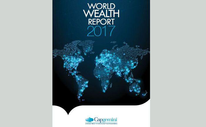 Screenshot vom Deckblatt des aktuellen World Wealth Reports der Beratungsfirma Capgemini.