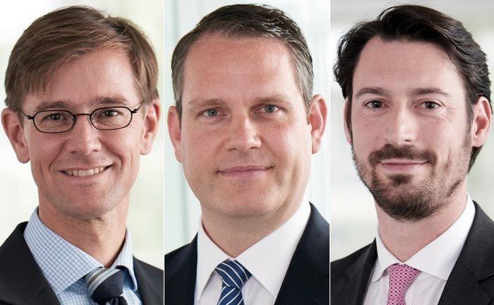 Die Verantwortlichen des Trevias Family Office (v.l.n.r.): Axel Siepmann, Volker Pengel und Luka Bajec.