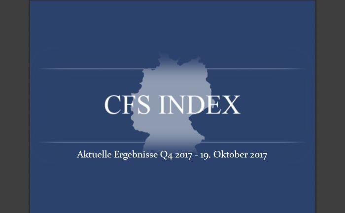 CFS Index: Die Hälfte der Umfrageteilnehmer halten die expansive Geldpolitik der EZB zum Teil für wirksam.|© CFS