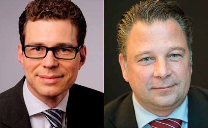 """Stefan Fritz (l.) und Jörg Seifart: """"Der unter Juristen häufig zu hörende Rat, ein Blick ins Gesetz erleichtere die Rechtsfindung, hilft hier nicht weiter."""""""