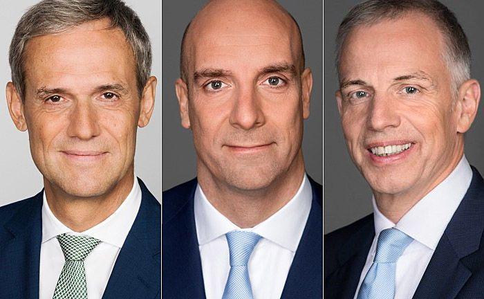 Michael Kemmer (v.l.n.r.), Christian Ossig und Andreas Krautscheid: Ossig und Kemmer führen den Verband ab 2018 gemeinsam. |© Bundesverband deutscher Banken