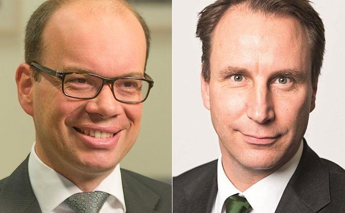 Frank Stefes (l.) und Robert Schlichting: Stefes übernimmt den Drittparteienvertrieb, während Schlichting als Leiter Institutioneller Vertrieb für Deutschland und Österreich bei Lombard Odier IM einsteigt.