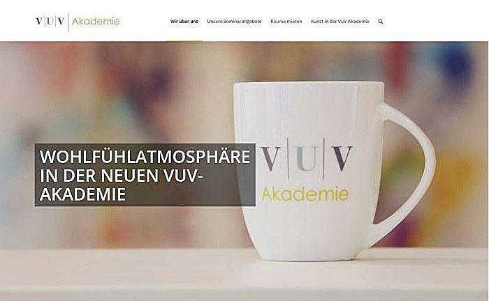 Screenshot der VuV-Akademie-Webseite