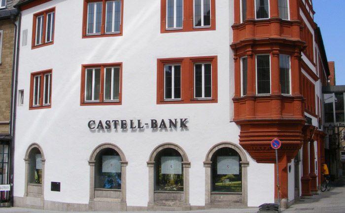 Die Filiale der Fürstlich Castell'schen Bank in Würzburg. |© Mattes