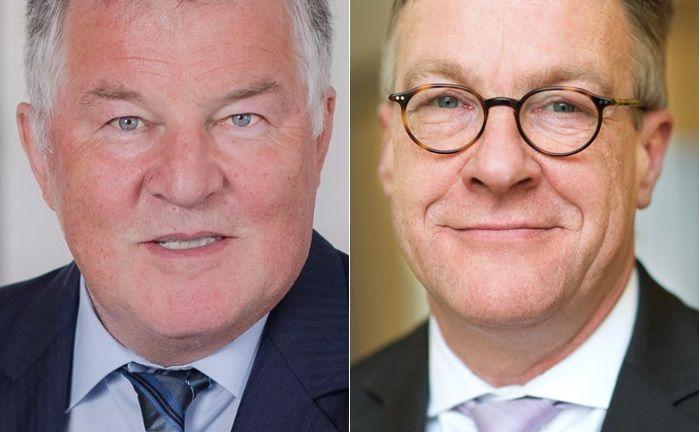 Peter Dobler (l.) hält als langjähriger Geschäftsführer künftig 25,1 Prozent an der PS Plus. Henning Heuerding, Vorstand bei Sal. Oppenheim, ist froh, den Software-Anbieter in die Hände von strategischen Investoren zu übergeben.