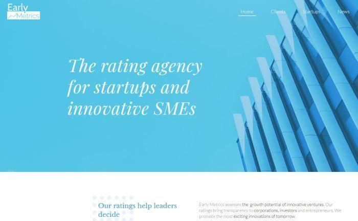 Screenshot der Earlymetrics-Homepage: Das Unternehmen fokussiert sich bei seiner Bewertung auf das Management, das Geschäftsmodell und den Markt, den das Startup erreichen möchte.