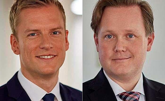 Marc Roßdeutscher (l.) und Michael Ibron: Roßdeutschers Berufung war nach dem Weggang Ibrons zur HSBC nötig geworden.