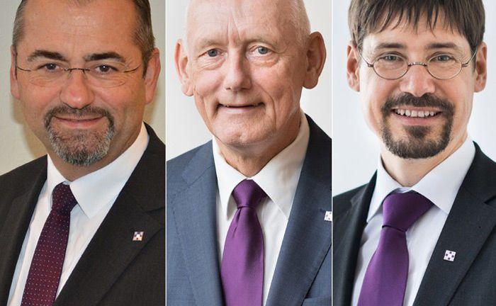 Das neue Nachhaltigkeitsteam der Evangelischen Bank (v.l.): Helmut Kotschwar, Dieter Hornung und Bernhard Graeber.