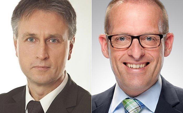 Ralf Vielhaber (l.), Geschäftsführer des Verlags Fuchsbriefe, und Dr. Jörg Richter, Geschäftsführer von Dr. Richter IQF:  Gemeinsam führt man seit 2003 den Markttest der Private Banking Prüfinstanz durch.