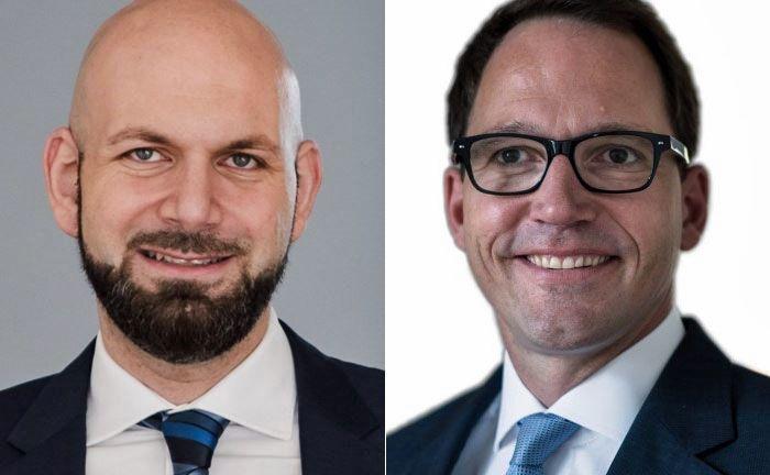 Roni Saig (l.) und Christian Hornemann: Beide sind für das Bankhaus Lenz in Berlin als sogenannte Private Family Banker tätig.