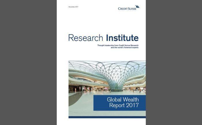 Credit Suisse Global Wealth Report 2017: Die Studie verzeichnet den größten globalen Vermögenszuwachs seit 2012. |© Credit Suisse