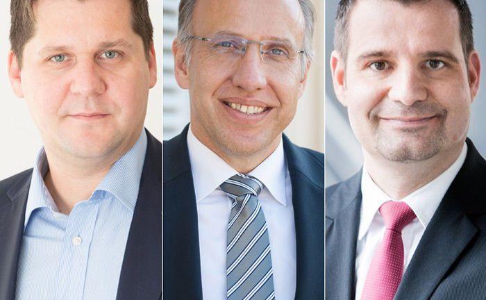 Drei der sechs Befragten zum Thema Research (v.l.): Alexander Braun, Thomas Wüst und Oliver Luckenbach.|© Montega, Valorvest und Solventis