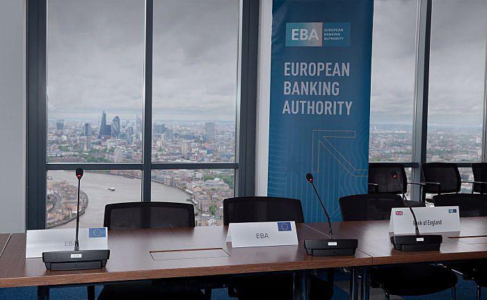Blick aus dem EBA-Gebäude in London: Im Zuge des Brexit muss der Umzug nach Paris spätestens Ende 2019 erfolgt sein.