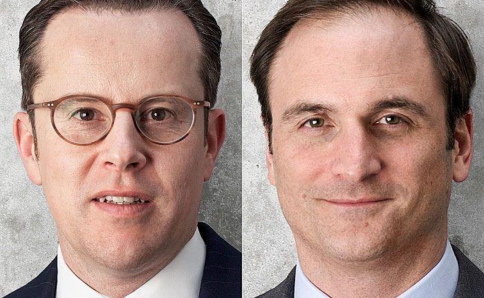 Michael Mertmann (l.) und Edward Martens: Die Vorstände der AVW Immobilien erklären die Vorzüge von Investments in B-Lagen.|© AVW Immobilien