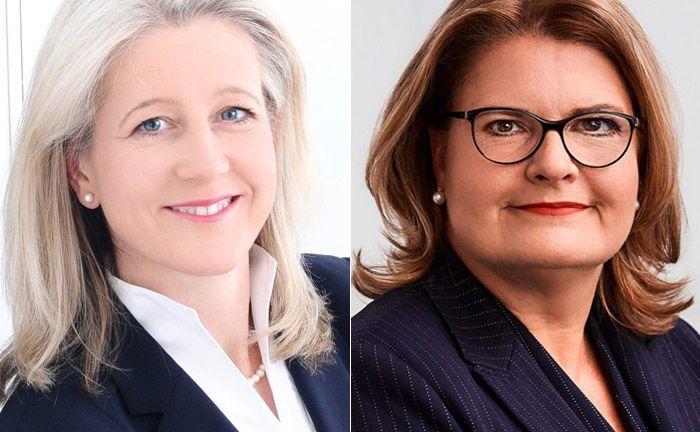 Neue Mitglieder im Vorstand der Berliner Volksbank: Martina Palte (r.) wird das Privatkundengeschäft verantworten, Caroline Toffel das Firmenkundengeschäft übernehmen.
