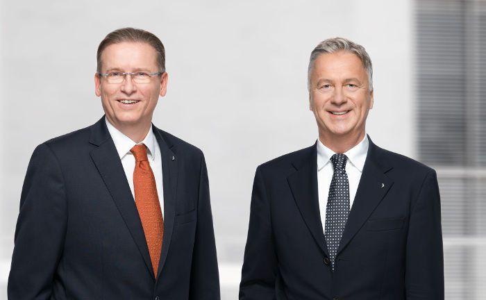 Ottmar Heinen (rechts) und Markus Schürmann: Die Vorstände leiten die Immobiliengesellschaft Project Beteiligungen künftig zusammen.|© Project Beteiligungen