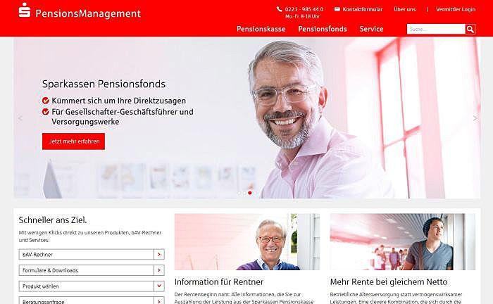 Unternehmens-Webseite: Die S-Pensionskasse ist das zentrale Gemeinschaftsunternehmen der Sparkassen-Finanzgruppe für betriebliche Altersversorgung.