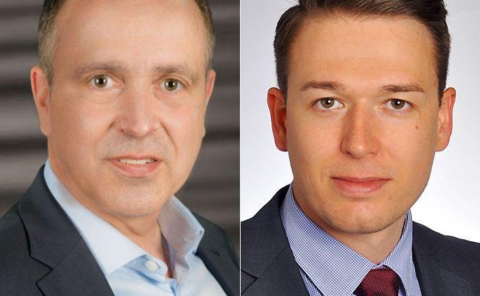 Michael Deeken (l.) ist Vorstand der Vermögensanlage Altbayern, Kevin Specht arbeitet im Portfoliomanagement des Vermögensverwalters aus Regensburg.|© Vermögensanlage Altbayern