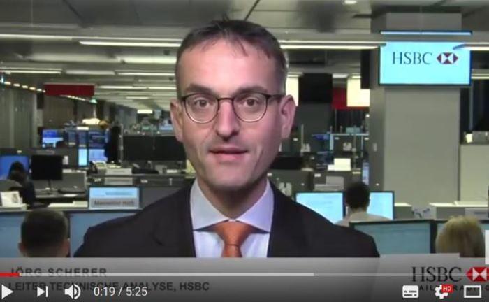 """Jörg Scherer im HSBC Daily Trading TV: """"DAX und Gold auf charttechnisch spannendem Terrain"""""""