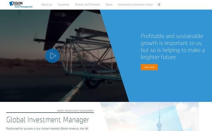 Webseite von Aegon Asset Management: Das Unternehmen will künftig verstärkt Multi-Manager-Produkte anbieten.