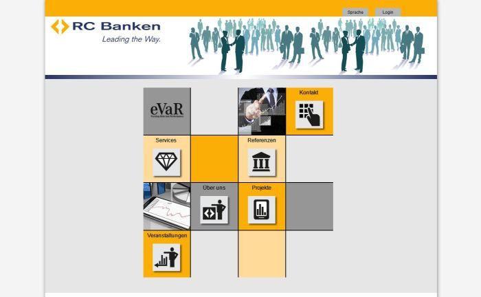 Screenshot der RC Banken-Webseite: Ende November wurde die vorläufige Verwaltung des Unternehmensvermögens angeordnet.