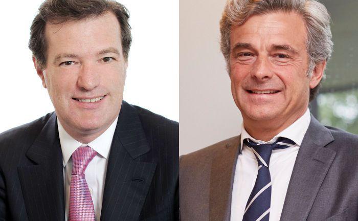 Laurent Mignon und Philippe Oddo (r.): Die Vorstandschefs von Natixis und Oddo BHF planen eine langfristige Partnerschaft.|© Groupe BPCE, BHF Bank; Foto (l.): Piotr Banczerowski