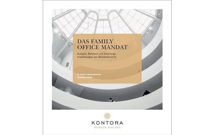 Cover der Kontora-Umfrage: Das Multi Family Office befragte seine Mandanten nach den Erwartungen bei Dienstleistungen und Rendite.