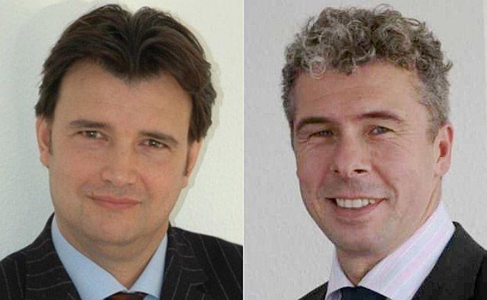 Drazen Mario Odak (l.) und Peter Hannemann: Die Inhaber der Stephan Unternehmens- und Personalberatung bieten auf Basis der Studie Instituten auf Wunsch eine individualisierte Wealth-Management-Vergleichsanalyse an.