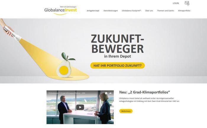 Webseite von Globalance Invest: Das Unternehmen plant, eine eigene4 32-KWG-Lizenz zu beantragen. |© Globalance Invest