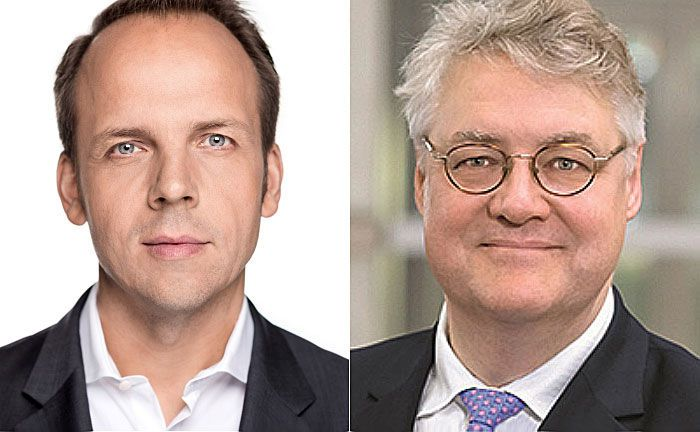 Digitalchef Markus Pertlwieser (l.) und Chefanlagestratege Ulrich Stephan: Die Verantwortlichen haben sich 1 Milliarde Euro AuM bis Ende 2018 zum Ziel gesetzt.
