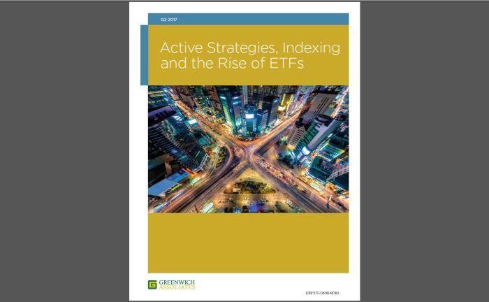 Deckblatt der Studie: Die strenge Trennung von aktiven und Index-Investments ist demnach so nicht mehr zu halten. |© Greenwich Associates