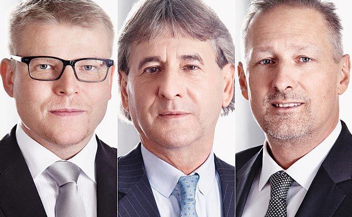 Stefan Barth (v.l.n.r.), Egbert Fleischer und Herbert Messinger: Alle bisherigen Aufsichtsratsmitglieder – mit Ausnahme der Arbeitnehmervertreter – sind im Zuge des Eigentümerwechsels ausgeschieden.|© Robert Staudinger