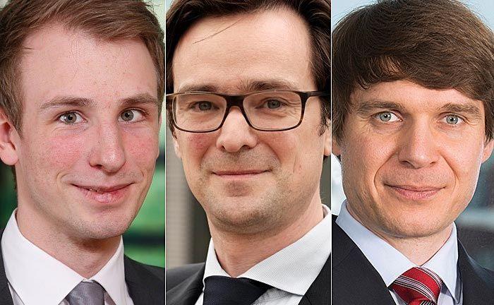 """Kevin Lehmann (v.l.n.r.), Manuel Wittke und Mikhail Beketov: """"Banken und Asset Manager stehen heute einer neuen Generation von Kunden gegenüber, die völlig andere Erwartungen und Ansprüche an das Anlagegeschäft hat."""""""
