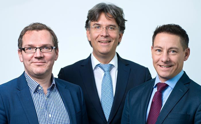 Das neue Führungstrio von der Fondsboutique Sahreholder Value Management (v.l.n.r.): Ulf Becker, Frank Fischer und Philipp Prömm. | © Shareholder Value Management