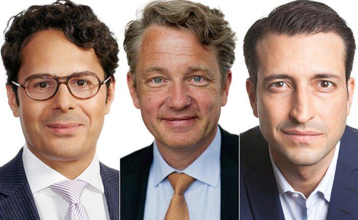 Frank Thiäner (M.) ist neues Mitglied der Geschäftsführung, dem sogenannten Management-Board der Kanzlei P+P Pöllath + Partner. Tarek Mardini (l.) und Marcel Guenoub sind seit 2018 neu im Partnerkreis der Kanzlei.