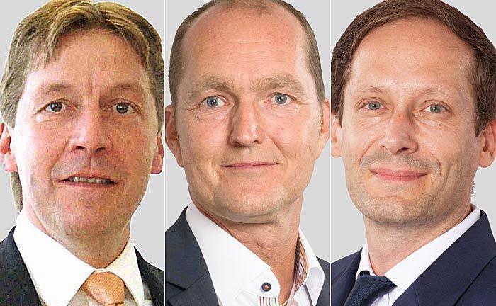 Neuzugang Heiko Fassler (v.l.n.r.) sowie die beiden NSI-Geschäftsführer Karsten Dümmler und Mirko Schmidtner.  |© NSI