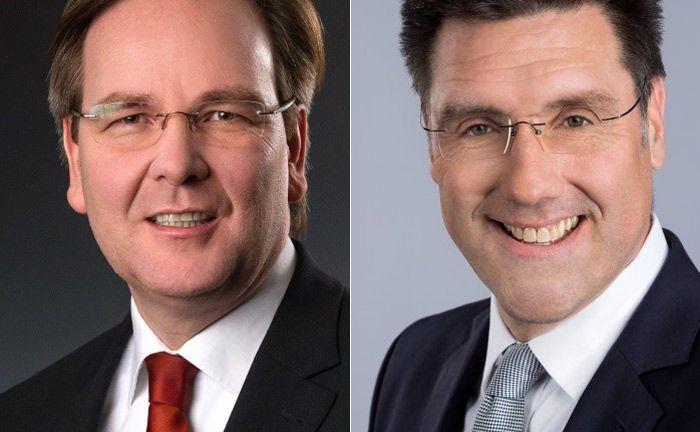Carsten Gennrich (l.) und Christoph Neu von Merck Finck: Während Erster mehr Verantwortung übernimmt, verlässt Letzteres das Institut.