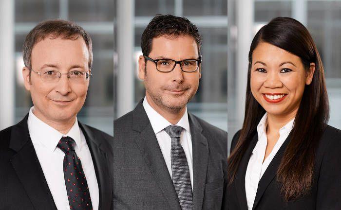 Neue Kollegen bei Hansainvest (von links): Andreas Hausladen, Stefan Klein, Wantanie Rose.