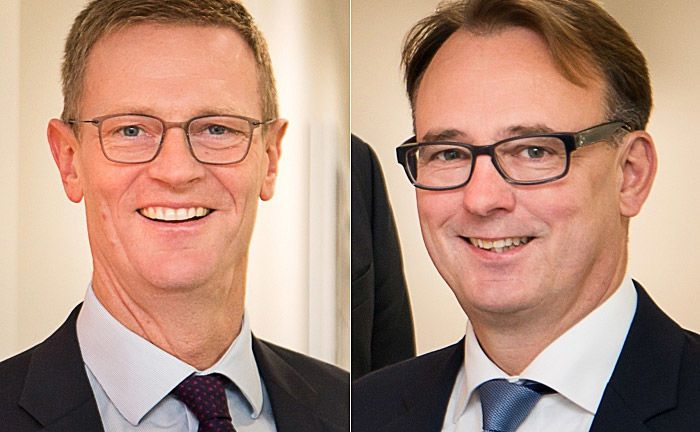 Die beiden Vorstände Ulf Brothuhn (l.) und Detlev Herrmann: Das Institut kann auf ein erfolgreiches Jahr 2017 zurückblicken. |© Bremische Volksbank