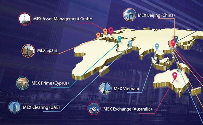 Ein Teil der weltweiten Präsenz der Mex Group: In Frankfurt soll MexAM den neuen Hauptsitz des globalen Asset Management einnehmen.|© Mex Group