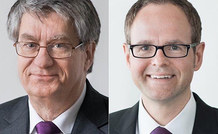 Hans-Jürgen Schäfer (l.) folgt auf Michael Hepers, der nun das institutionelle Kundengeschäft der Bank verantwortet.|© Evangelische Bank