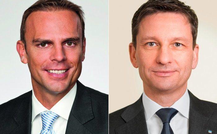 Mirko Albert (l.) und Matthias Battefeld: Der eine von der Vermögensverwaltung Valexx, der andere von der Hannoverschen Volksbank.