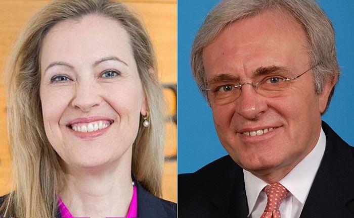 Ursula Egli (l.) und Gerhard Grebe: Der Vorstand besteht künftig nur noch aus zwei Mitgliedern. |© Julius Bär Europe