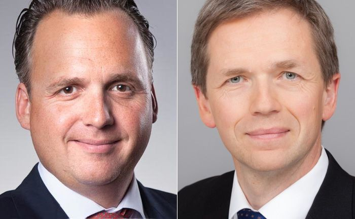 Joachim Olearius (l.), Sprecher der Partner der Warburg Bank und Hinrich Holm, stellvertretender Vorsitzender des Vorstands der Nord/LB und Aufsichtsratsvorsitzender der Nord/LB Asset Management.